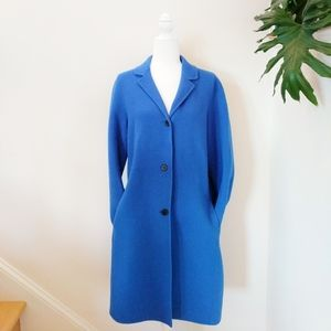 Vince. Cobalt Blue Long Trench Style Peacoat